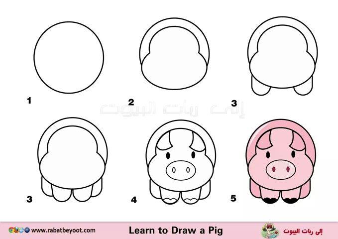 Chancho Como Dibujar Un Cerdo Dibujo Paso A Paso Dibujos Faciles
