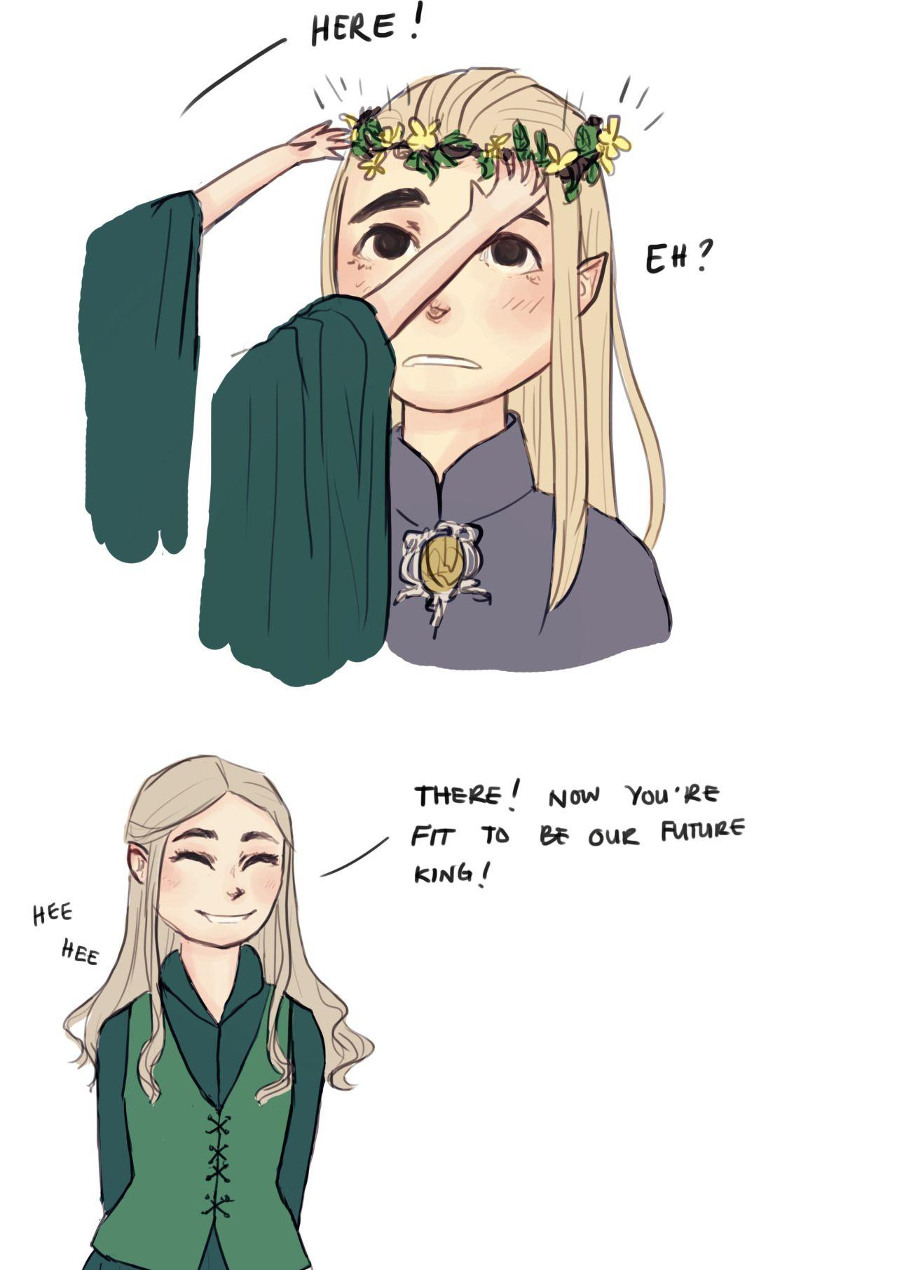 Eli Draws   Tolkien funny, Fantasy heroes, Thranduil