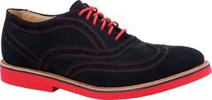 Men's Walkover Cambridge Midi - Navy Suede/Red Sole