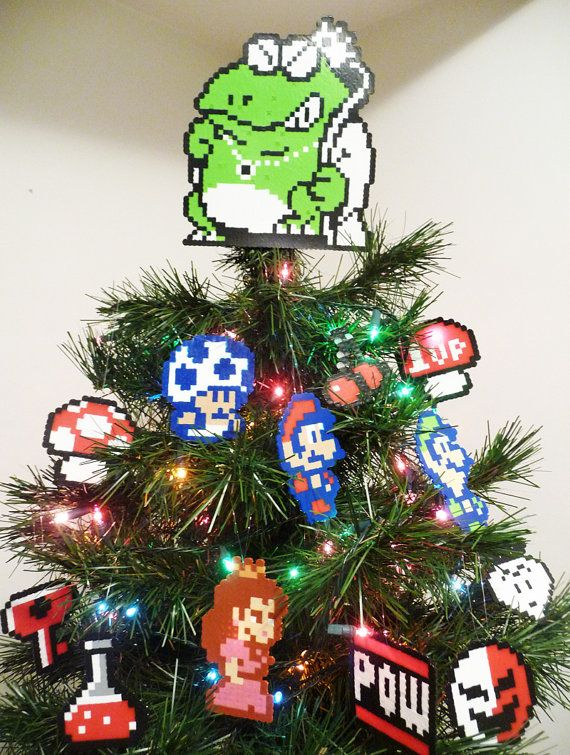 Super Mario Bros. 2 Perler Bead Christmas Tree by LighterCases ...