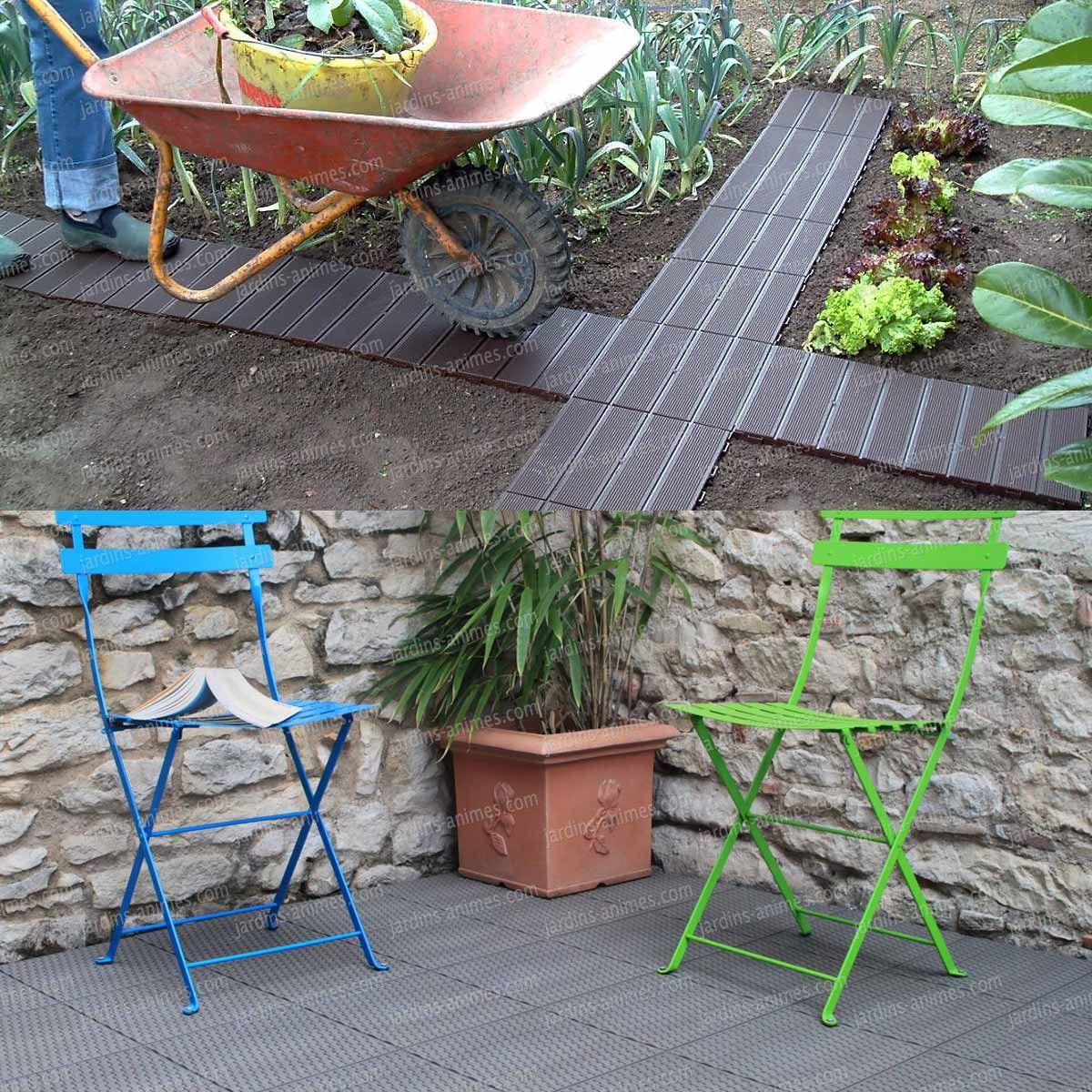 Dalle De Jardin Clipsable En Plastique Dalle Jardin Jardins Dalle Plastique