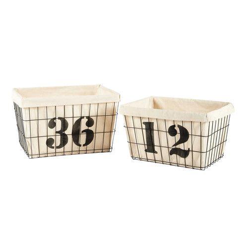 2 paniers de rangement argos buanderie panier rangement rangement et panier. Black Bedroom Furniture Sets. Home Design Ideas