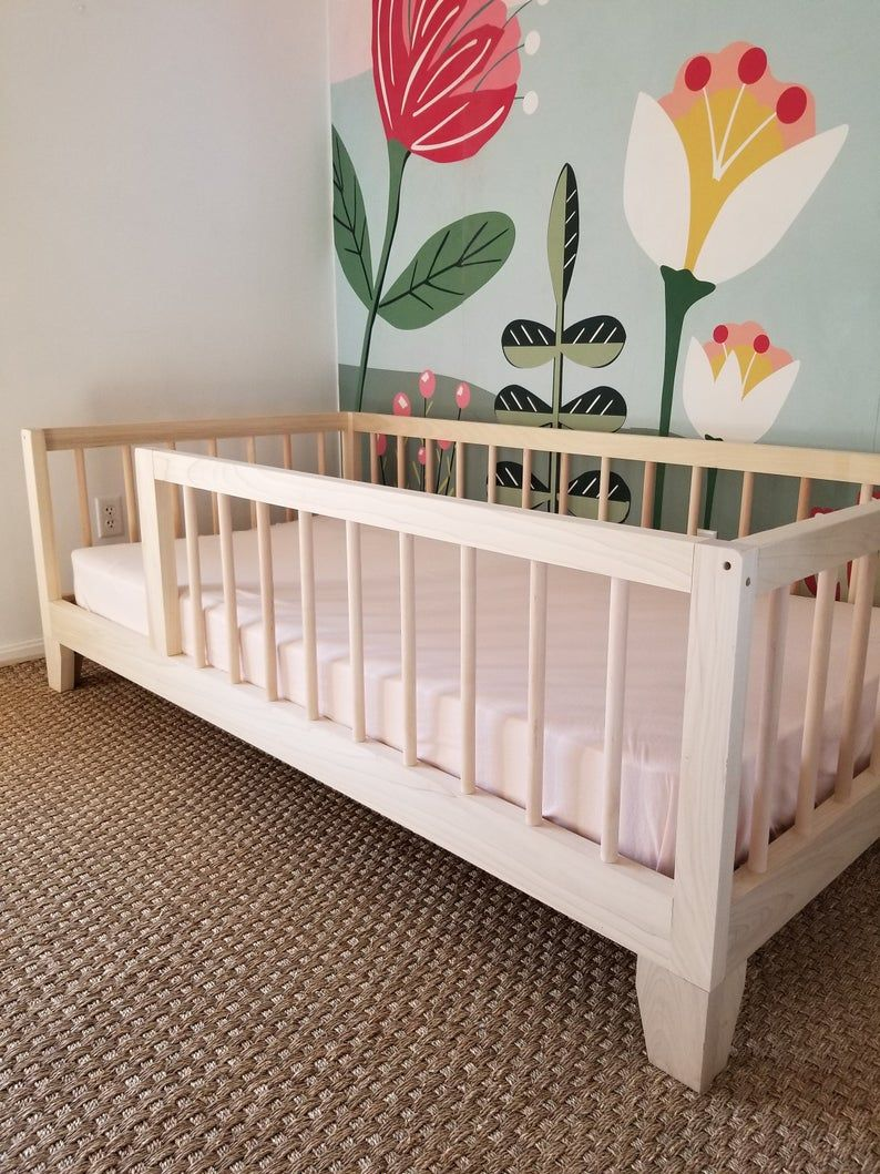 TWIN Montessori Floor Bed to Raised Bed Convertible With