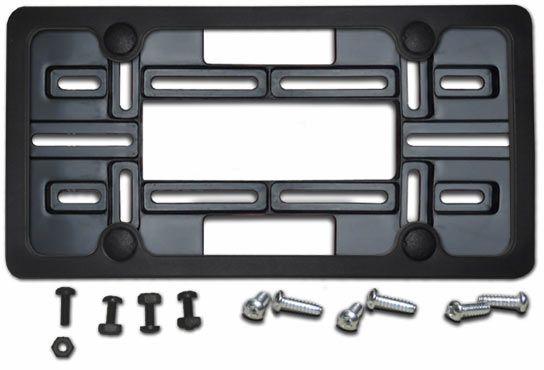 Jeep Front License Plate | Details about FRONT LICENSE PLATE HOLDER + BLACK FRAME tag bracket  sc 1 st  Pinterest & FRONT LICENSE PLATE HOLDER + BLACK FRAME tag bracket mount mounting ...