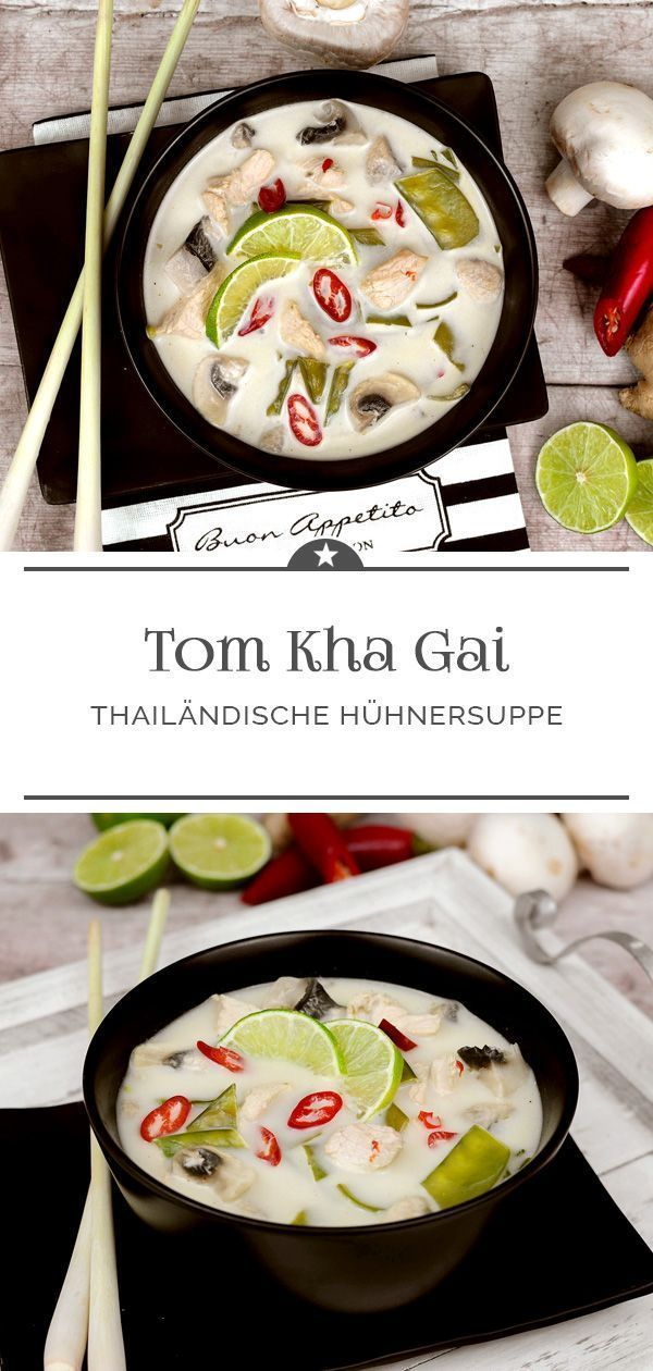 Galgant und Chili machen diese Suppe mit Kokosmilc+#Aromen
