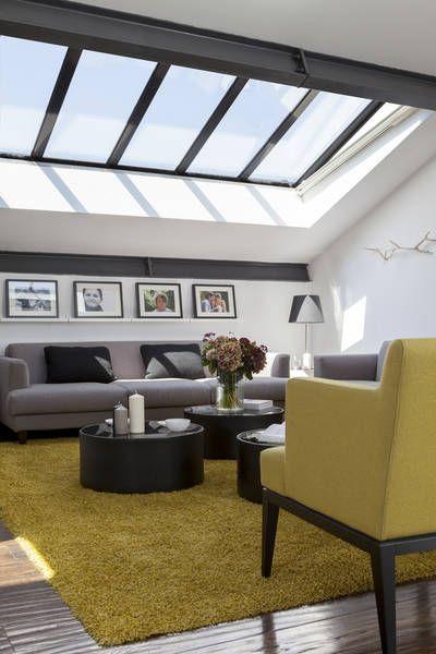 verrière escamotable -- Triplex sous les toits, Paris (75011