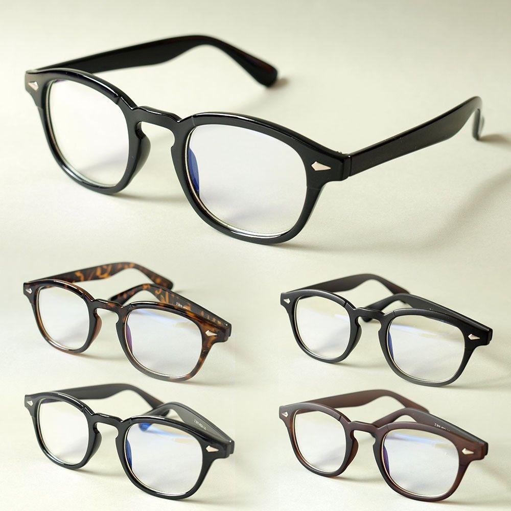 Vintage Glasses Black Tortoise Frame Johnny Depp Round