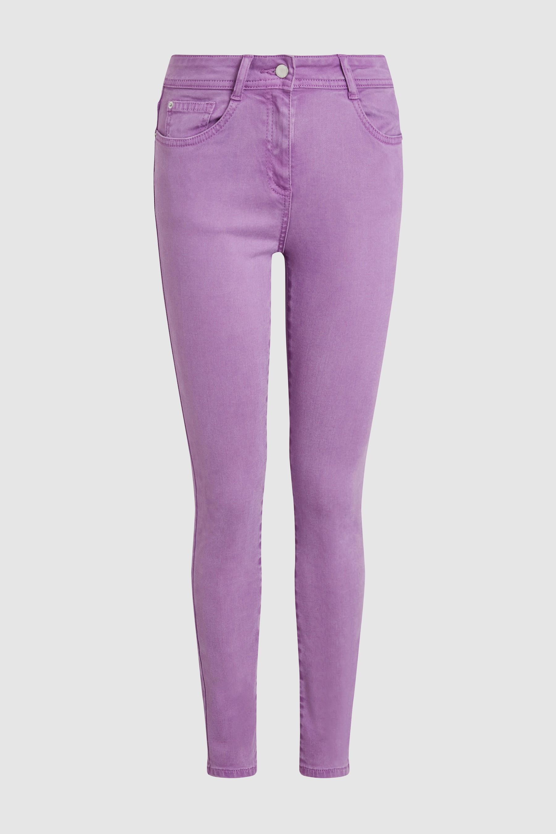 09d2f9e40 Womens Next Bright Purple Soft Touch Skinny Jeans - Purple ...