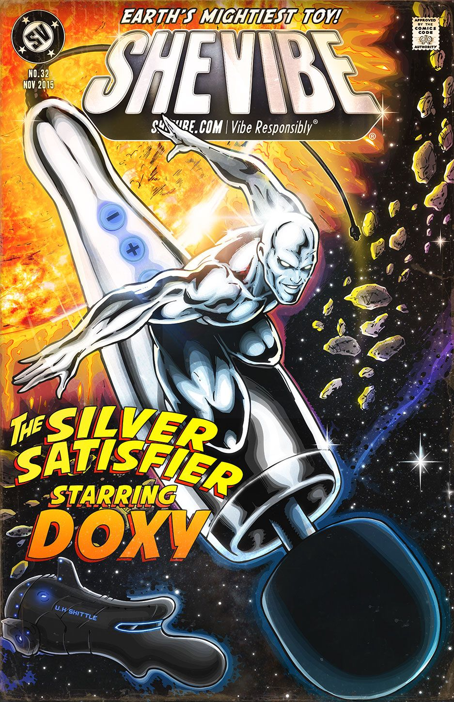 This month SheVibe is featuring the DOXY - the world's most powerful plug-in wand massager.   Designed, engineered and assembled in England, the DOXY is the UK's long awaited answer to the Hitachi Magic Wand.  The DOXY truly is the Silver Satisfier - Earth's Mightiest Toy!
