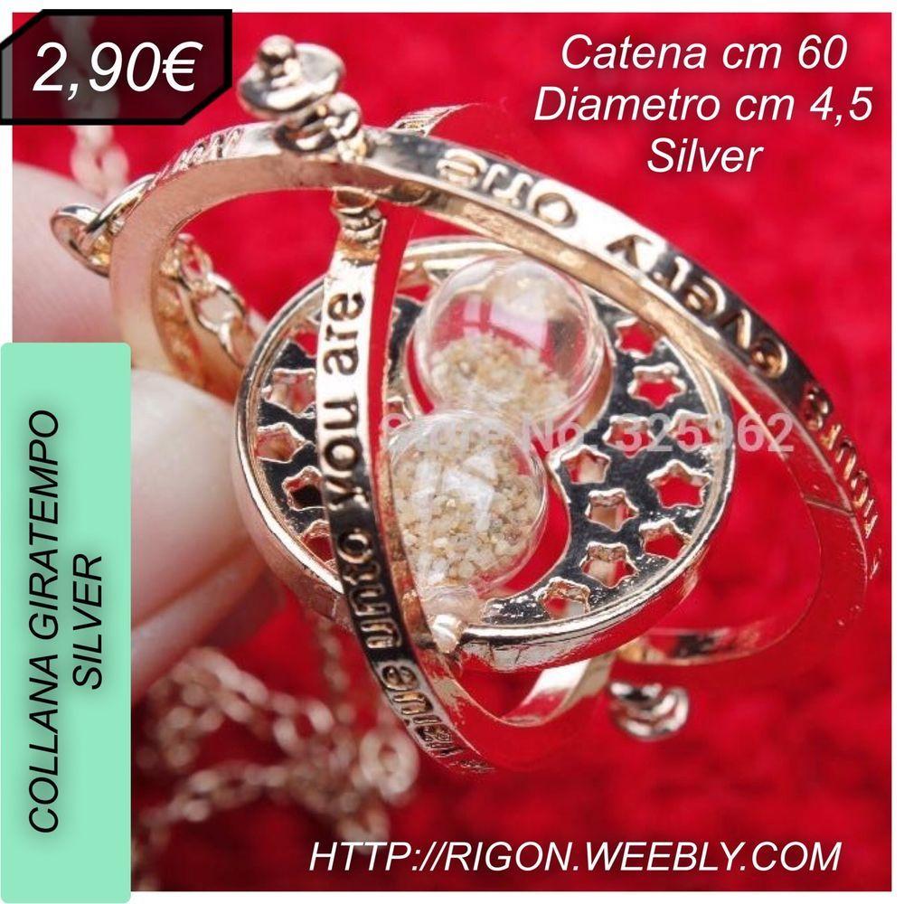 COLLANA HARRY POTTER HERMIONE GIRATEMPO €2,90 SILVER
