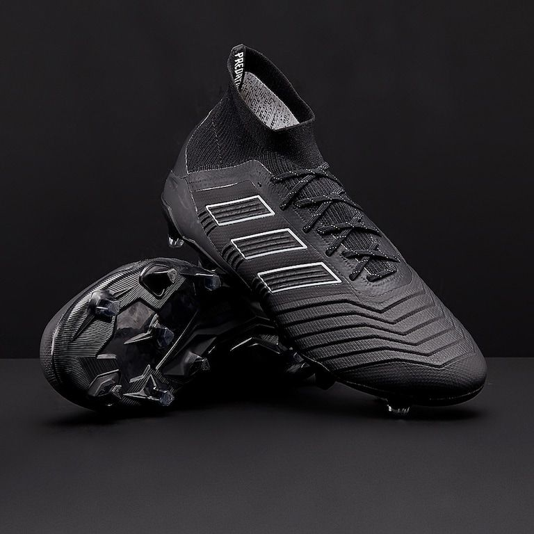 032851112 adidas Predator 18.1 FG - Mens Boots - Firm Ground - Core Black/Core Black/ White