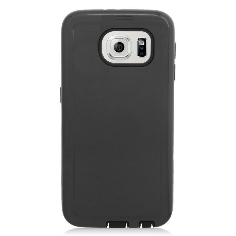 Insten Hard PC/ Silicone Dual Layer Hybrid Rubberized Matte Case Cover For Samsung Galaxy S6 Edge
