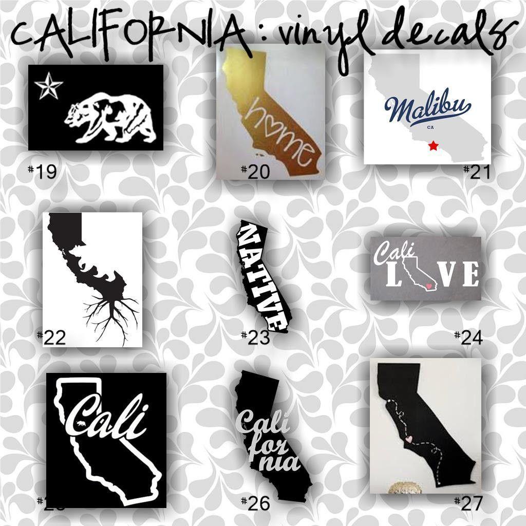Car sticker custom made - California Vinyl Decals 19 27 Car Window Sticker Custom California Car Sticker