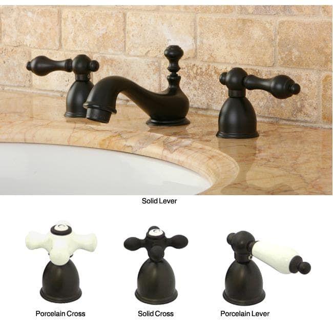 Mini Widespread Double Handle Oil Rubbed Bronze Bathroom Faucet