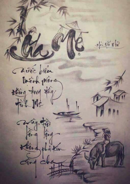 Tranh Chu Phong Canh Cha Me Japan Tattoo, Phông Chữ, Hình Xăm, Illustration