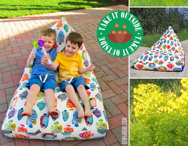 Pyramid Bean Bag Chair: Take it Outside! | Sew4Home | Sewing ...