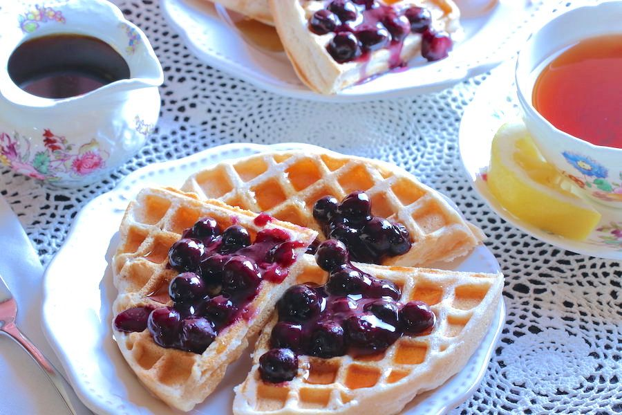 how to make blueberry sauce for waffles