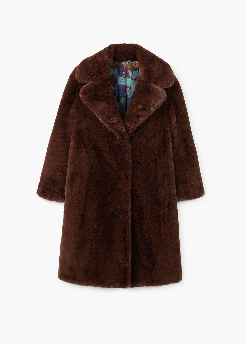 28897fc5abf8 120€ Manteau en fausse fourrure à revers   MANGO