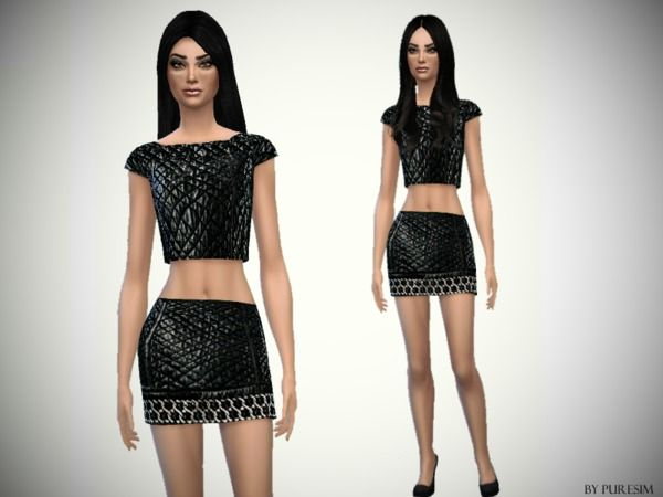 The Sims Resource: Crocodile Outfit by PureSim • Sims 4