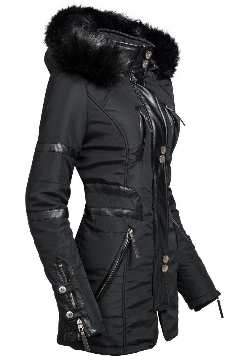 Winter »moony« Damen Wintermantel Jacke Navahoo Stylischer jq5Rc34AL