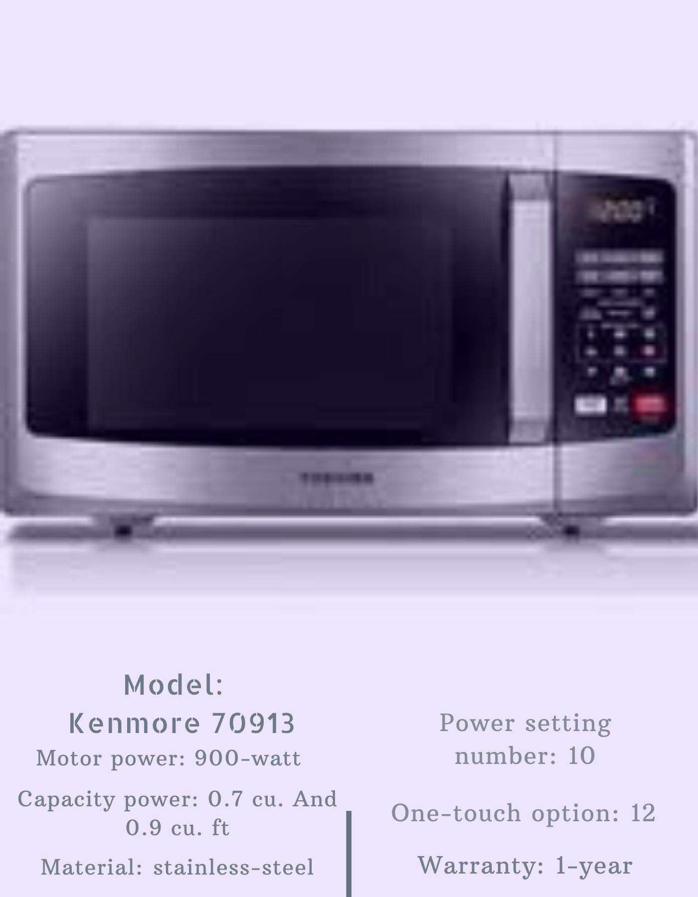 Kenmore 70913 Countertop Microwave In 2020 Kenmore Microwave