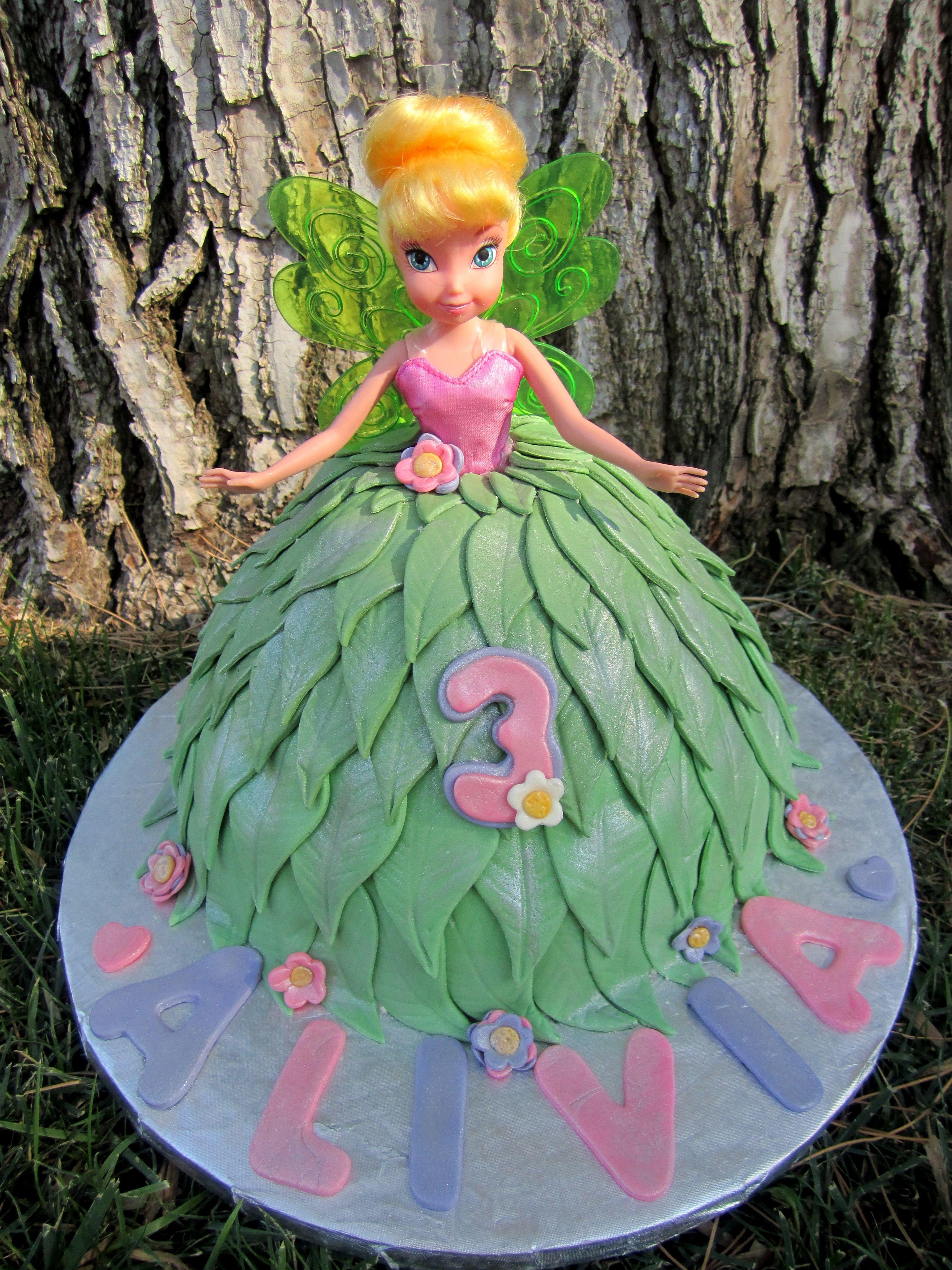 Tinkerbell Doll Cake | Doll cake, Tinkerbell doll, Barbie ...