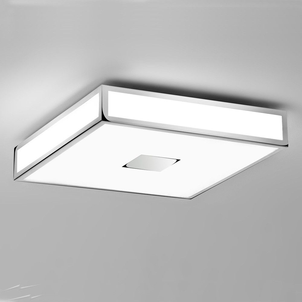 Mashiko 400 Square Bathroom Light In Polished Chrome Ip44 4