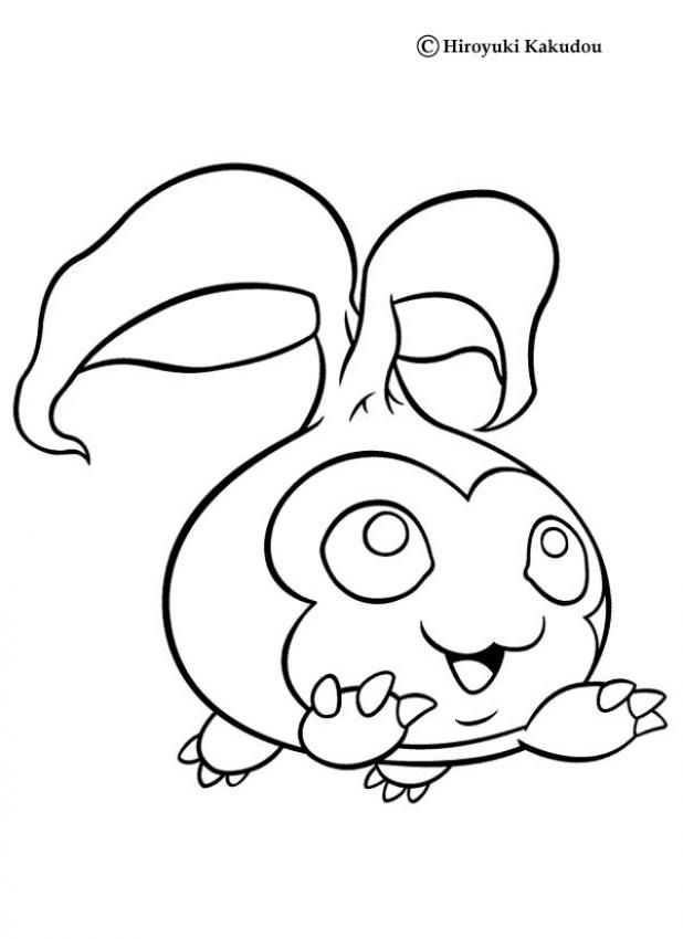 Digimon Tanemon coloring page. More manga coloring sheets on ...