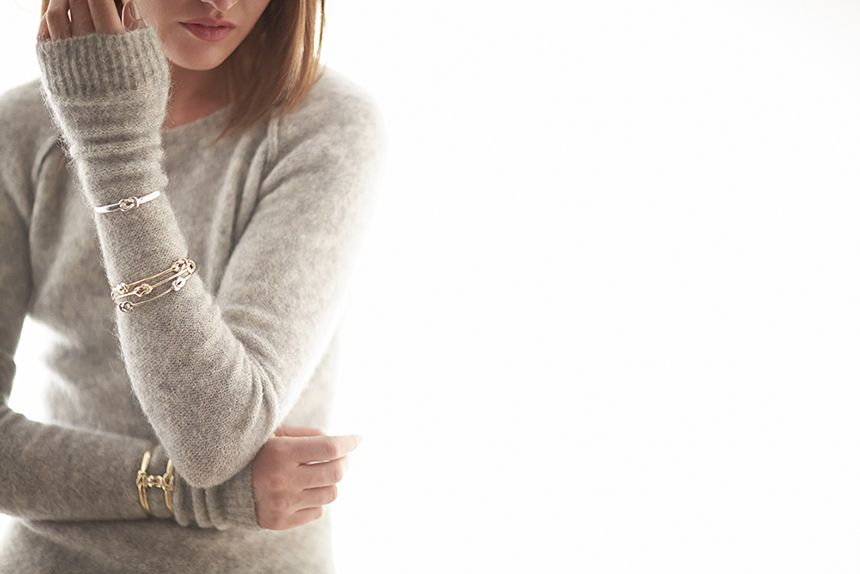 Odette FW14 Lovers Knot cuff, Compass Knot bracelets, Lovers Knot Stack Cuff, photo by John Molloy