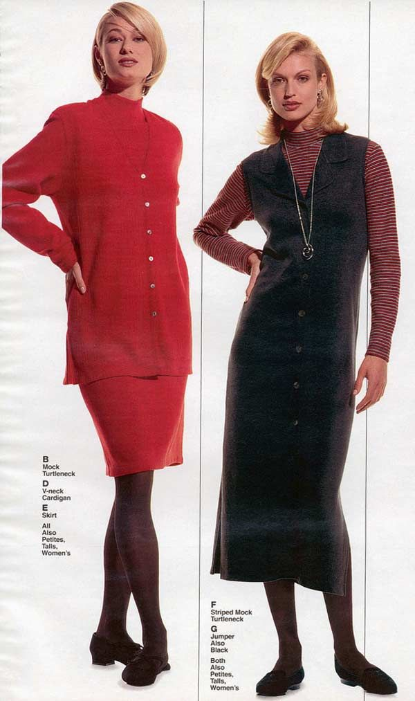 Womens Fashion From A 1996 Catalog 1990S Fashion  -2820