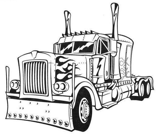 Pin By Kerli On Optimus Prime A Transformers Coloring Pages Truck Coloring Pages Cars Coloring Pages