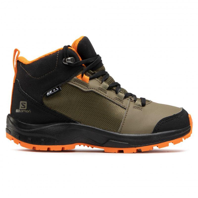 Trekkingi Salomon Outward Cswp J 409723 09 W0 Burnt Olive Black Exuberance Trekkingi I Trapery Kozaki I Inne Damskie Kolekcj In 2021 Boots Hiking Boots Shoes
