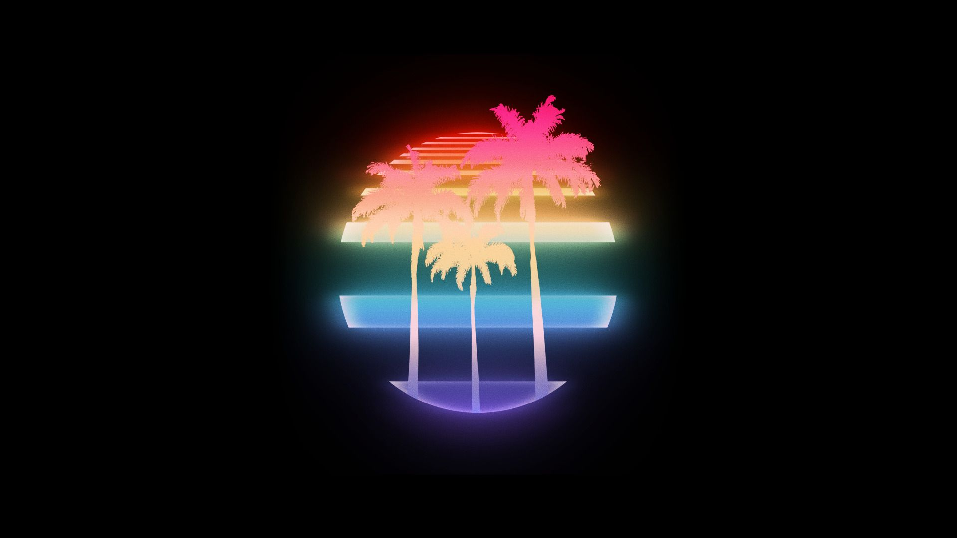 Vhs Palm Trees 1980s New Retro Wave Retro Style Vintage