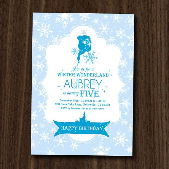 Frozen Ice Princess Invitation