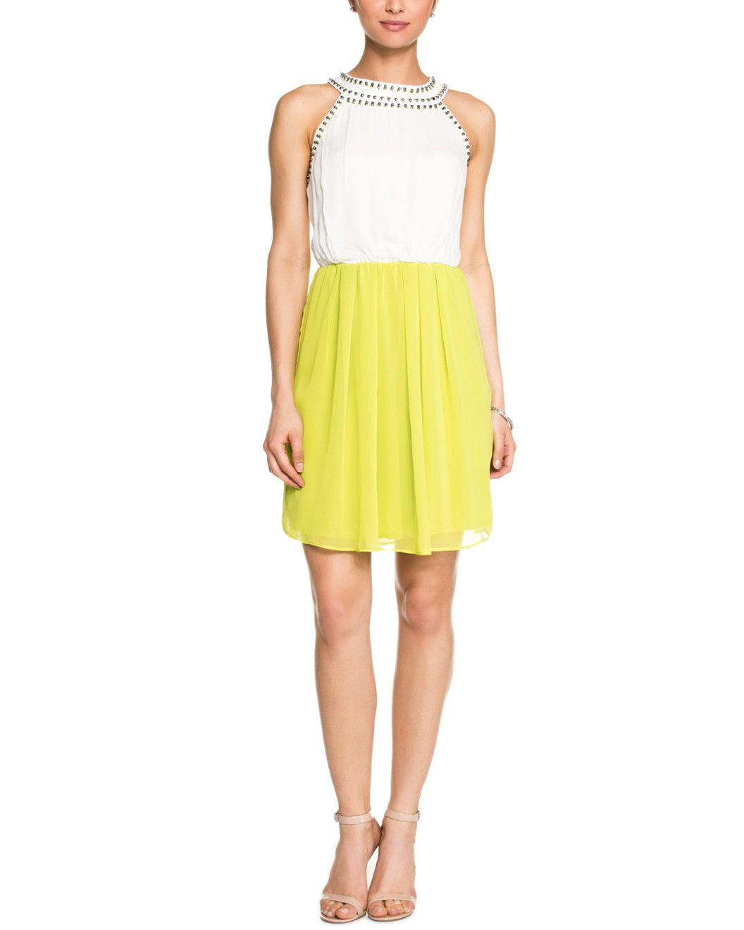 Spotted this Matty M Ivory & Chartreuse Embellished Dress on Rue La La. Shop (quickly!).