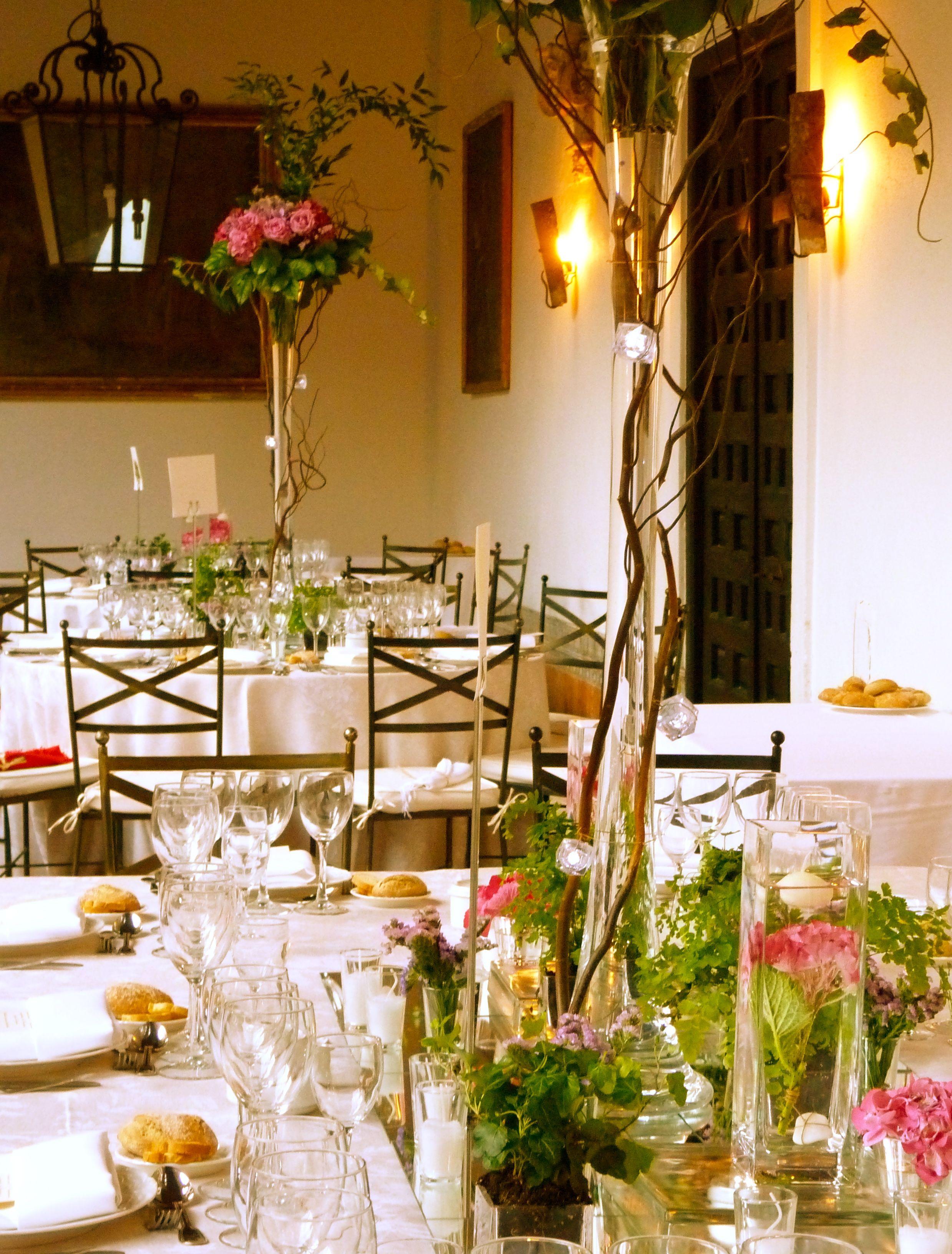 centro de mesa hortensia rosa