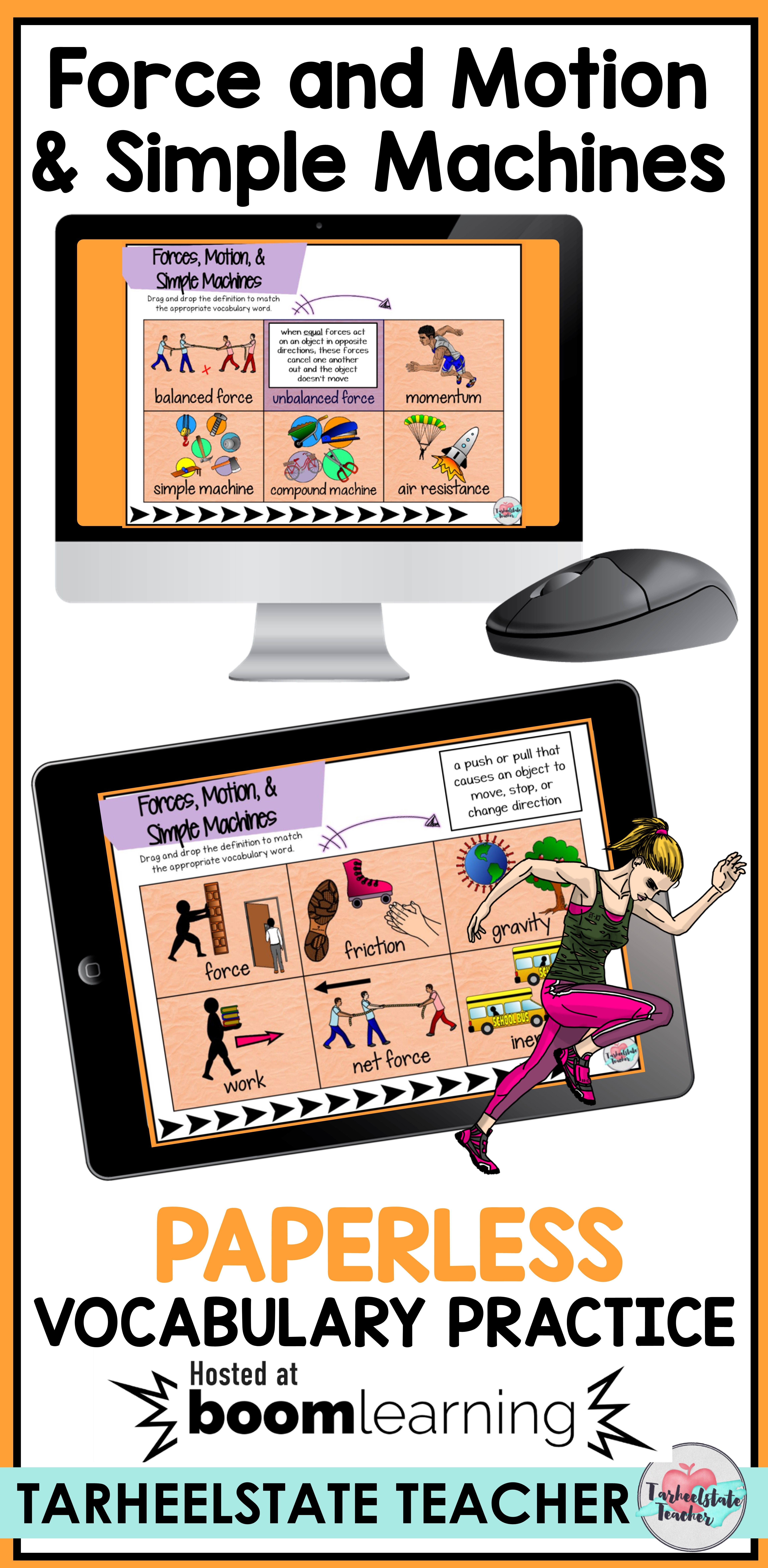 Distance Learning Force And Motion Simple Machines