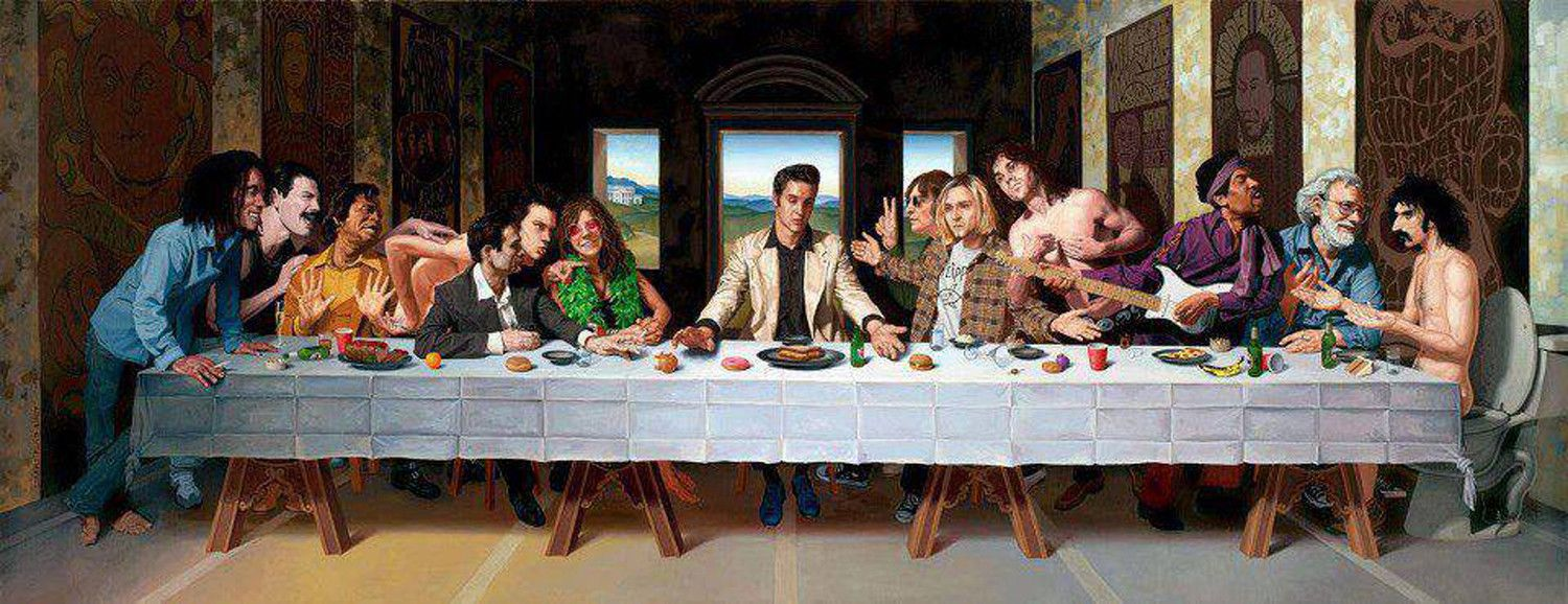 The Last Rock Supper Last Supper Art Parody Painting