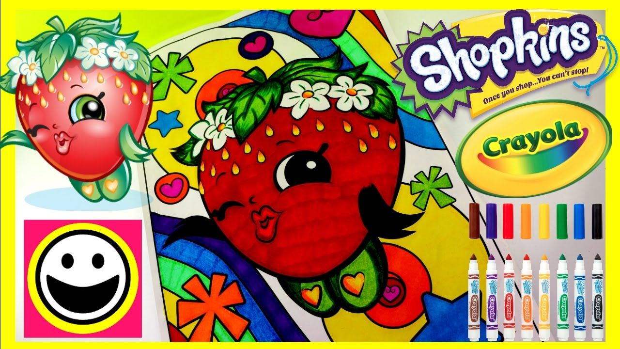 STRAWBERRY KISS | SHOPKINS | Crayola Giant Coloring Pages ...