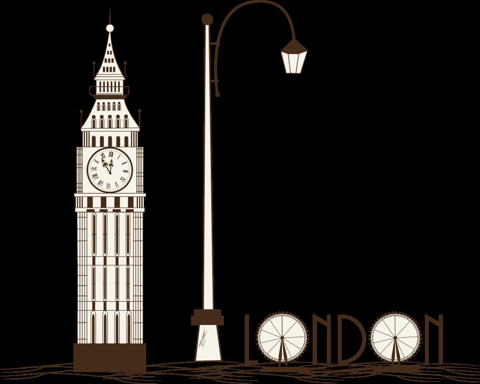 Big Ben London Eye Tower Bridge Illustration Vector London Big Ben 975 780 Transprent Png Free Download Tap Bran London Illustration Big Ben London London
