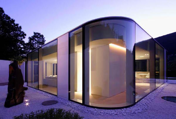 architecture houses glass. futuristic glass architecture in switzerland houses o
