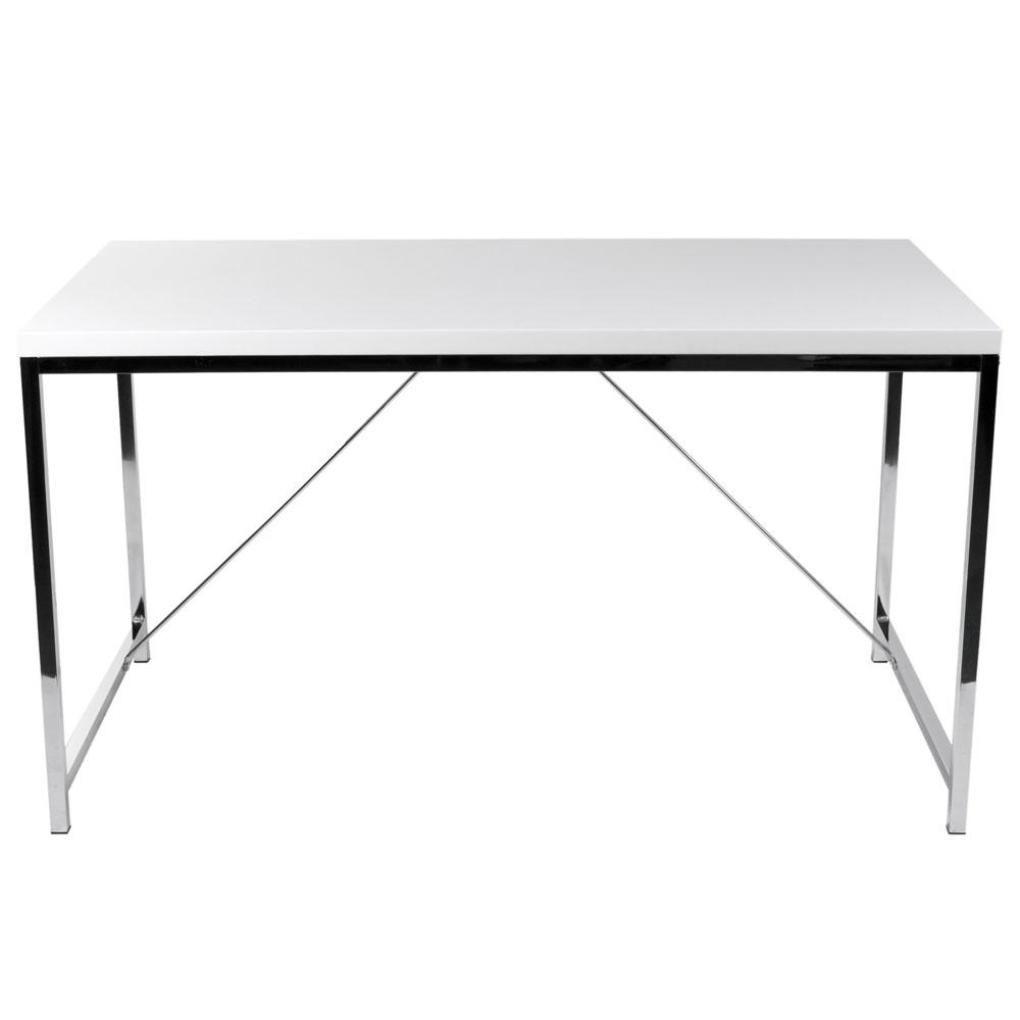 chrome office desk. Office Desk Giorgia-White Chrome A