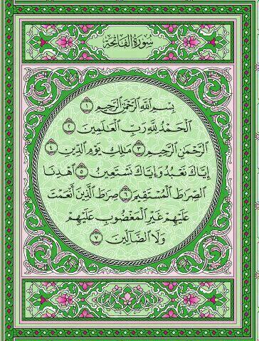 سورة الفاتحة سورة 1 عدد آياتها 7 Islam Social Security Card Hadith