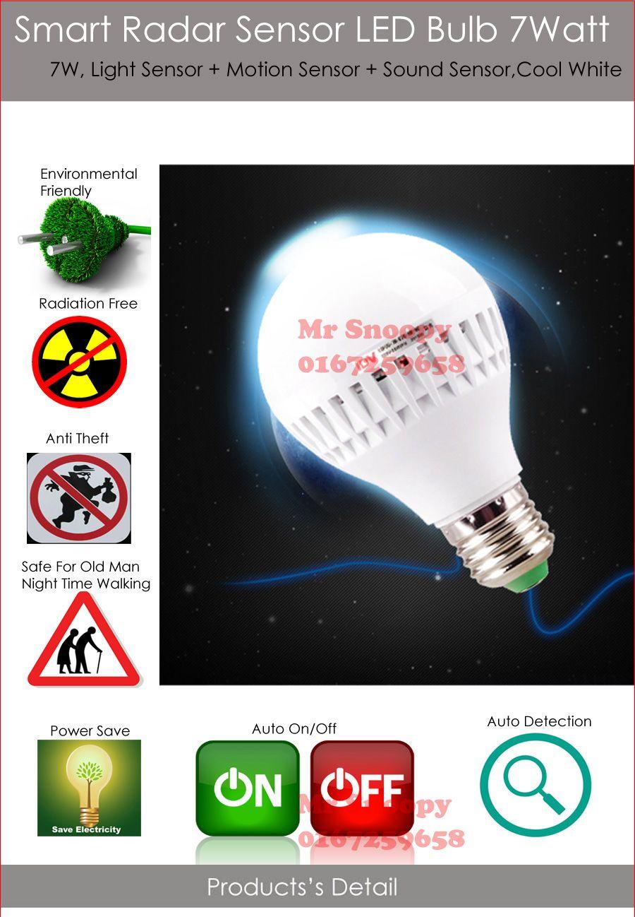 Shop Online At 11street My Malaysia Buy Electronics Fashion More Light Sensor Led Light Bulb Bulb