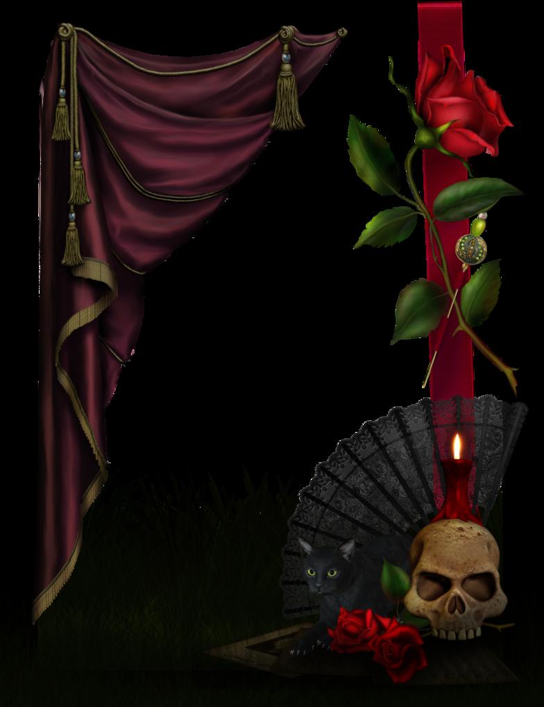 gothic rose frame