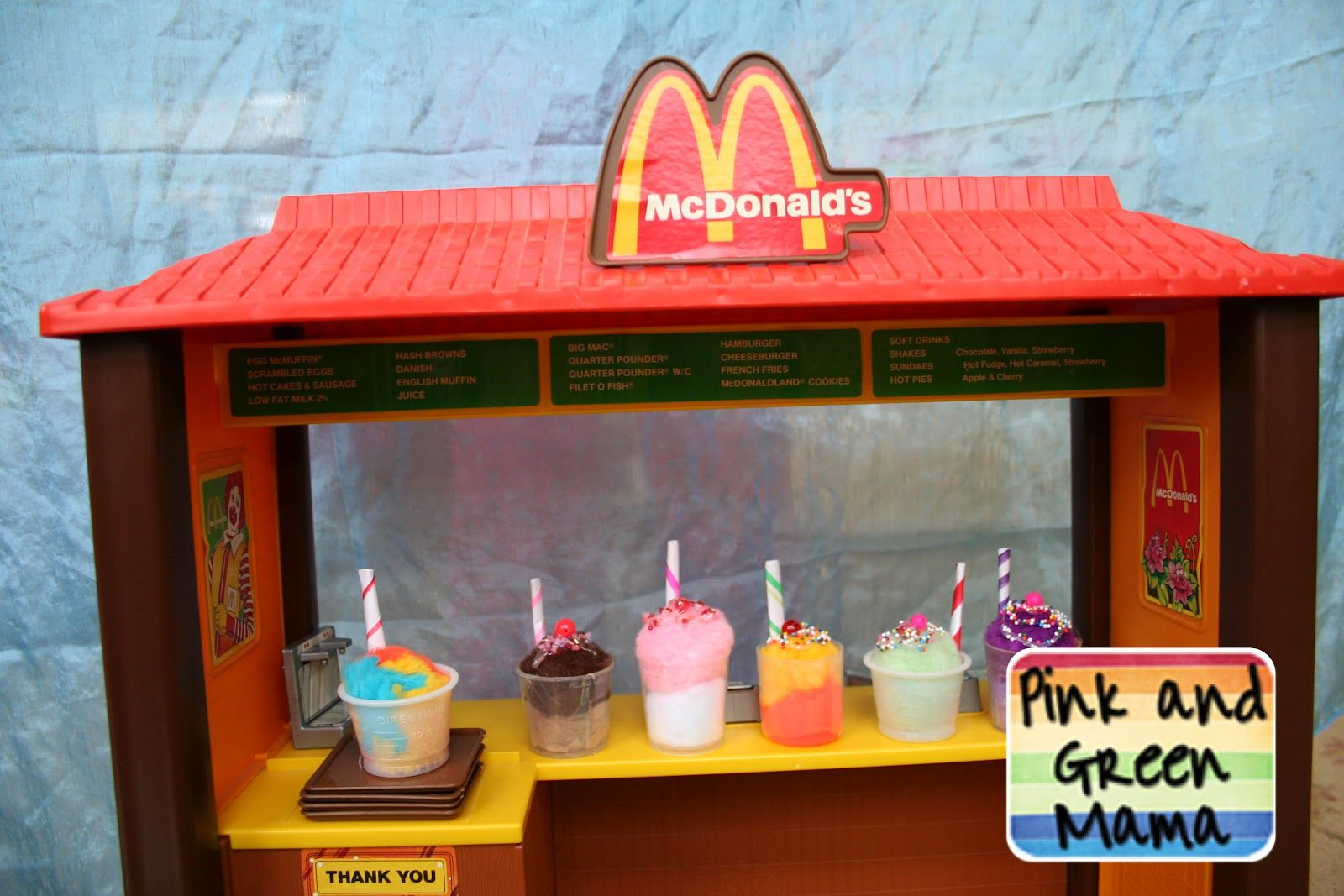 Pink and Green Mama: * Snow Day Craft: Pom-Pom Milk Shakes!