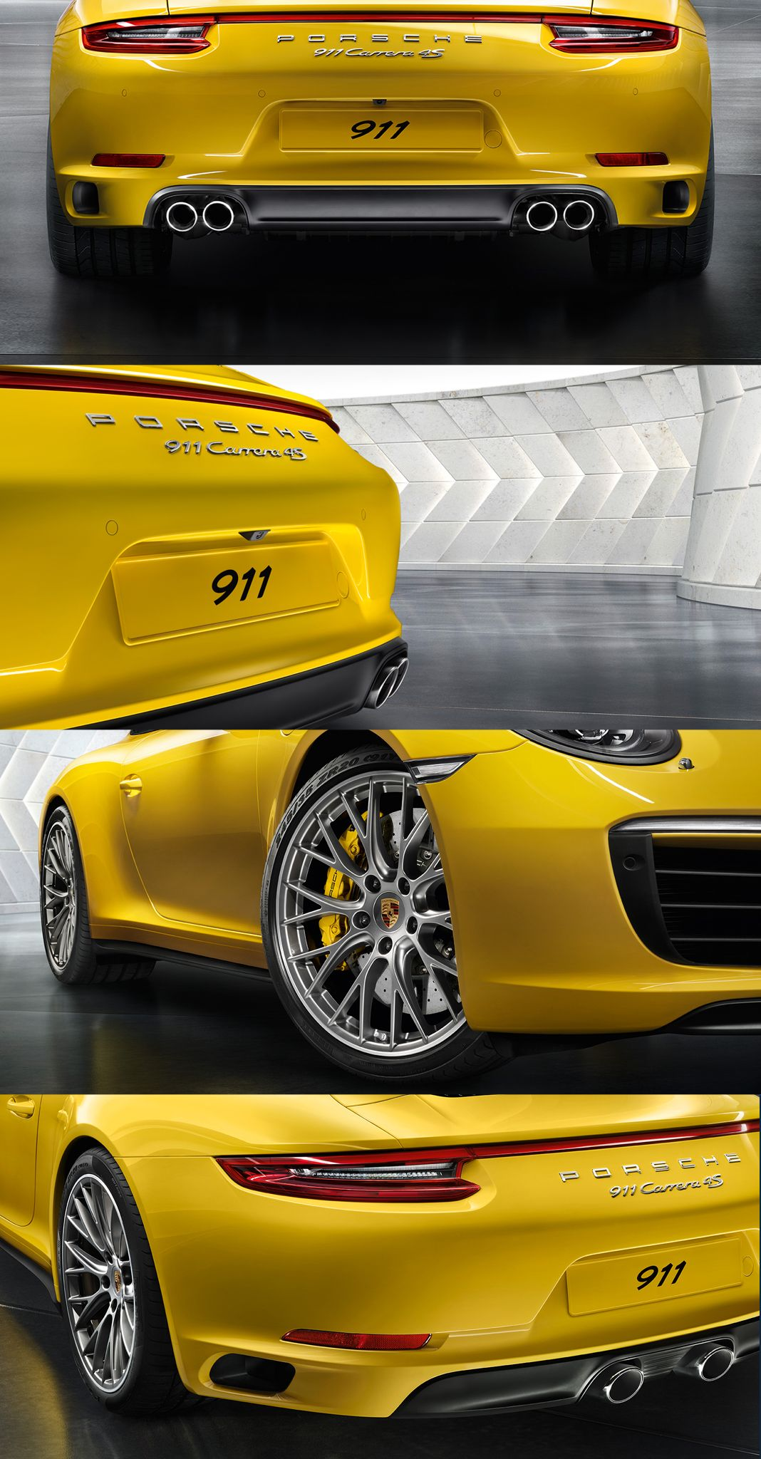 The all-wheel drive models, such as the 911 Carrera 4, not only include the numerous optical refinements of the new 911 Carrera generation but also have their own individual distinguishing characteristics as you can see in this pin.