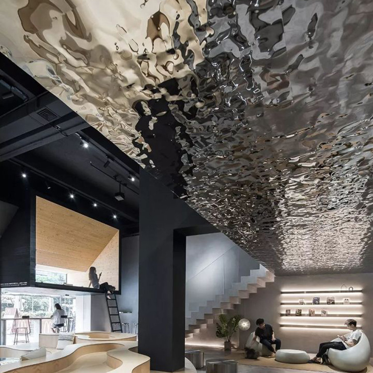 Water Ripple Hammered Restaurant Design Polishing Stainless Steel Wall Panels View Stainless Steel Wall Panels Fer In 2020 Steel Wall Water Ripples Restaurant Design