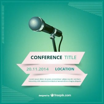 Conference vector poster posters covers pinterest conference conference vector poster stopboris Images