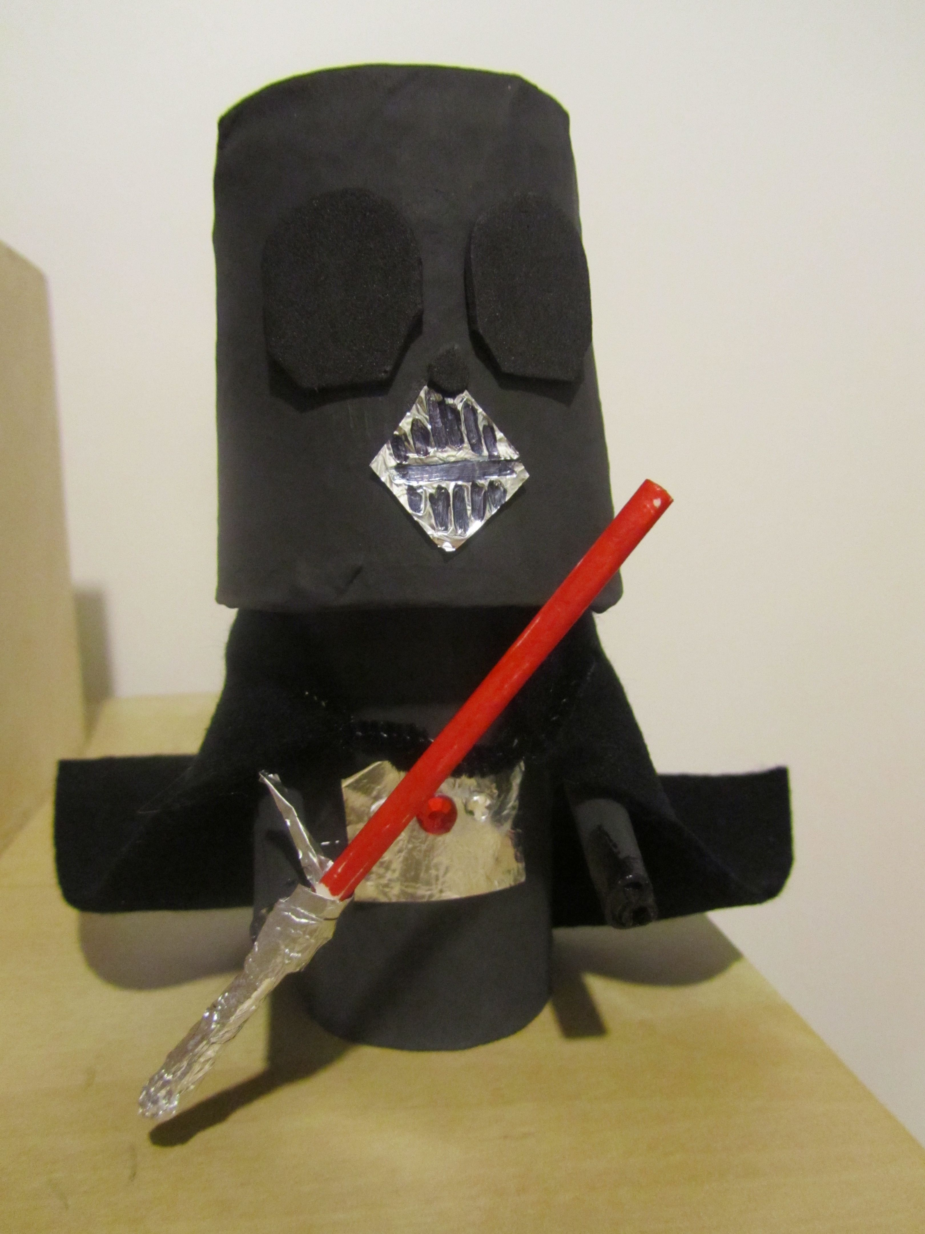 Darth vader puppet toilet paper roll upside down plastic for Toilet roll puppets